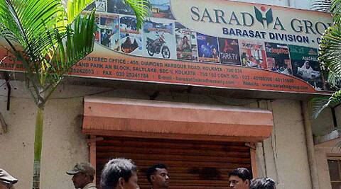 ED officers today raided the Saradha group's Behala office, located on the Diamond Harbour road.