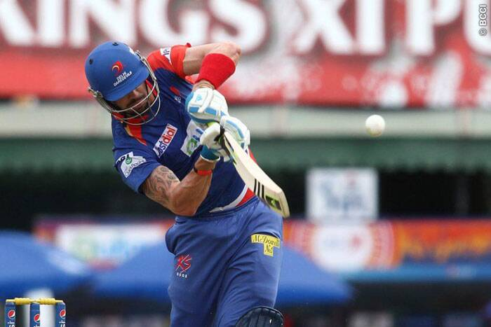Delhi skipper Kevin Pietersen looked in vintage form as he stroked his way to a 41-ball 58. (Source: BCCI/IPL)