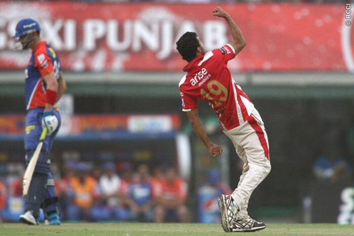 Rishi Dhawan was ecstatic after dismissing Kevin Pietersen, who scored 58 runs. The Delhi captain held onto one end as wickets kept falling on the other and once he was also back in the hut, Delhi slumped to 115 all-out in their 20 overs. (Source: BCCI/IPL)