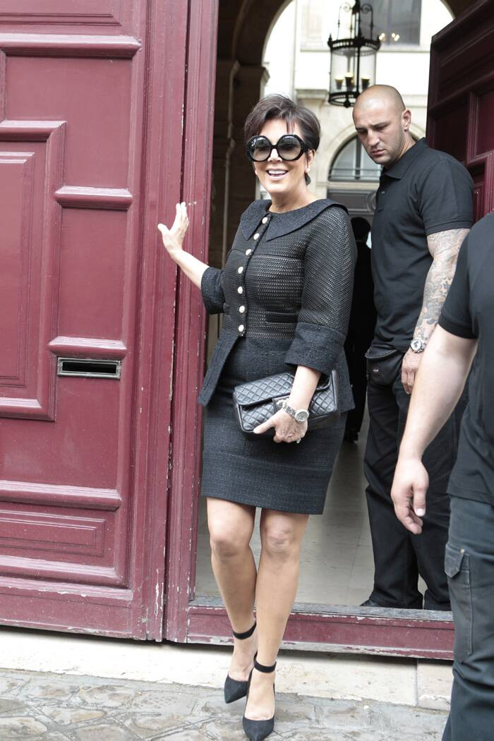 Meanwhile, others in the Kardashian family were spotted at Kanye West's Paris apartments. <br />Kim Kardashian's mother Kris Jenner leave Kanye West's Paris apartment. (Source: AP)