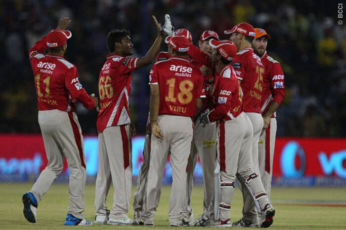 Defending 231, the Punjab bowlers never allowed the Chennai batsmen to cut-loose and took wickets at regular intervals. Sandeep Sharma removed Dwayne Smith early with just 5 on the board. (Photo: BCCI/IPL)