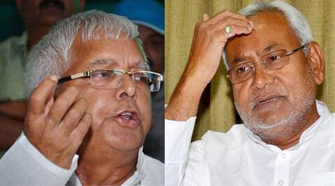 Lalu Prasad (left) and Nitish Kumar