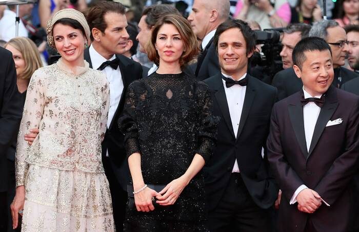 Jury Members Gael Garcia Bernal, Carole Bouquet, Willem Dafoe, president of the jury Jane Campion, Master of Ceremonies Lambert Wilson, jury members Jeon Do-yeon, Sofia Coppola, Jia Zhangke, Leila Hatami, and Nicolas Winding Refn take the stage at the opening ceremony of the 67th Cannes Film Festival. ( Source: AP ) (cannesjury1) Jury members Leila Hatami, Sofia Coppola, Gael Garcia Bernal and Jia Zhangke get together as they arrive for the opening ceremony of the 67th Cannes Film Festival and the screening of the 'Grace of Monaco'. (Source: AP)