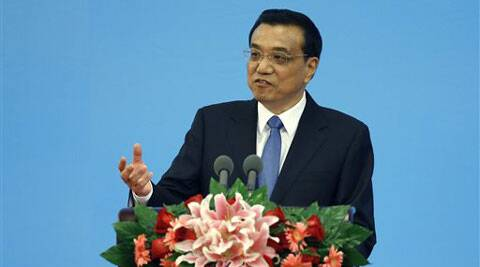 Chinese Premier Li Keqiang makes a speech at the opening ceremony of the annual meeting of Global Research Council at the Great Hall of the People in Beijing Tuesday, May 27, 2014. (Source: AP)