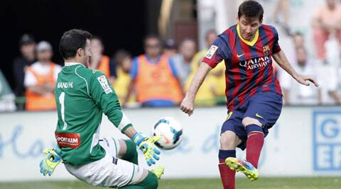 Messi is Barca's all-time top scorer with 354 goals in 424 official games. (AP)