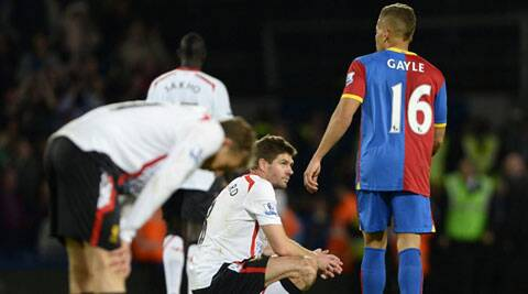 The EPL crown slipped further from Liverpool's grasp as they threw away a three-goal lead in a 3-3 draw away to Crystal Palace on Monday. (Reuters)