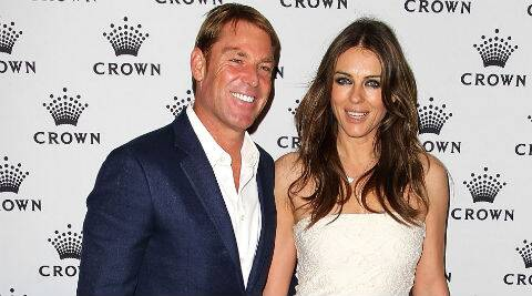 Despite the relationship breakdown, Liz Hurley said that she remains in touch with Shane Warne's family. (AP Photo)