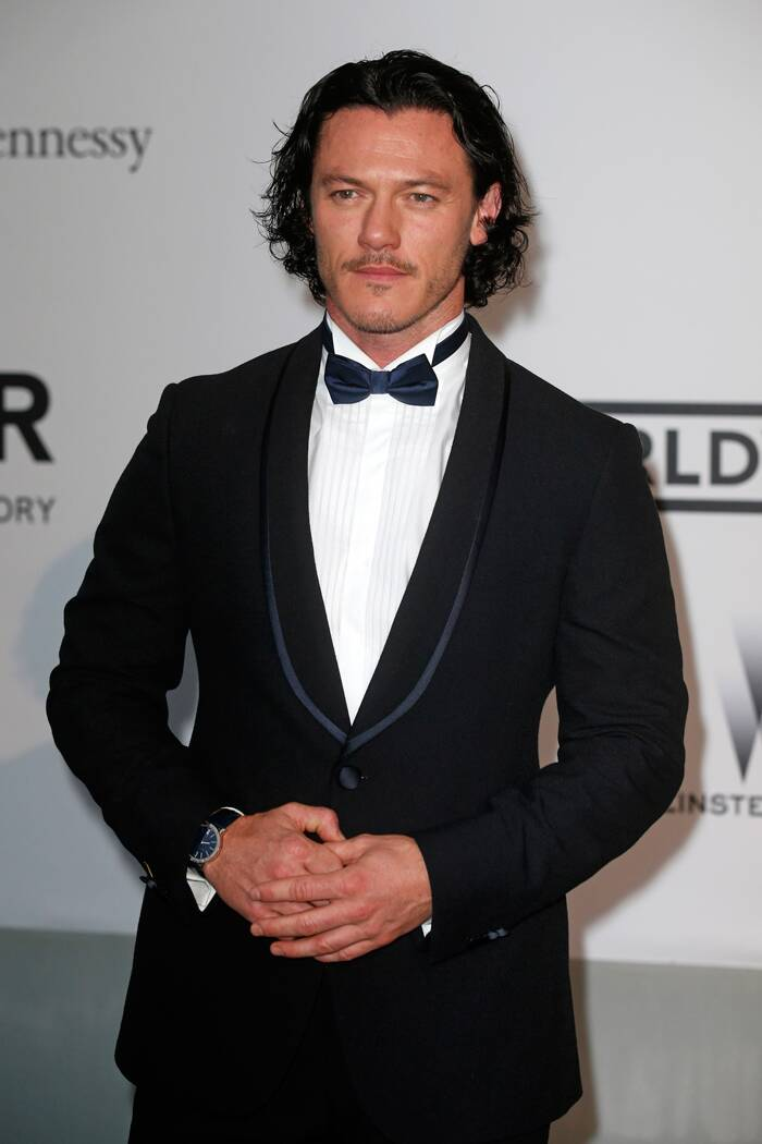 Welsh actor and singer Luke Evans was dapper in a dinner jacket at the charity do. (Source: Reuters)