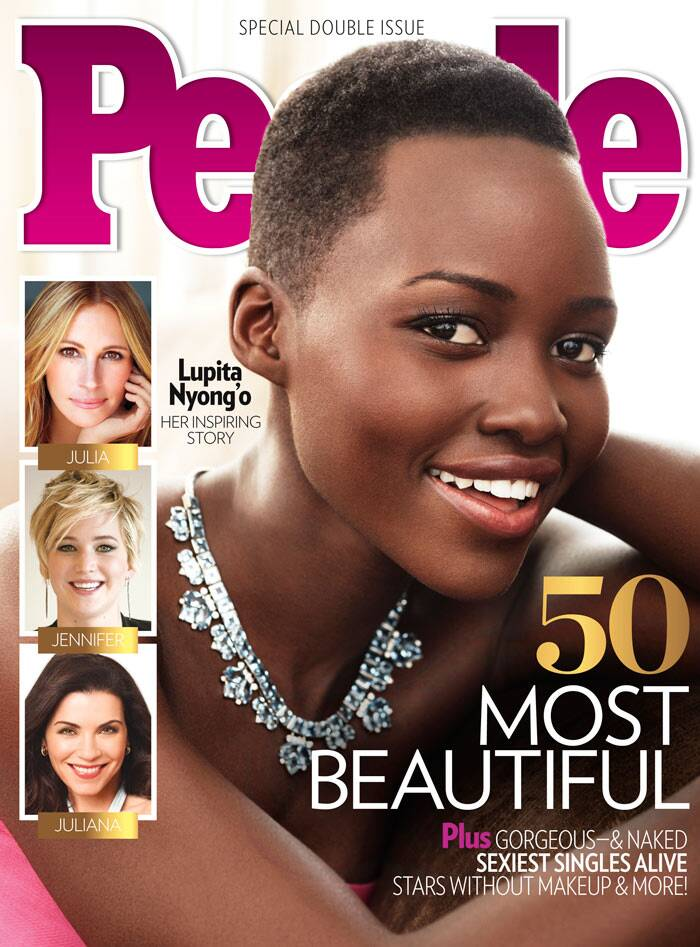 Oscar winning actress Lupita Nyong'o has featured on the cover of a magazine. The actress has been voted as People Magazine's Most Beautiful Person of 2014. Wearing a stunning necklace and killer smile, we all know why.