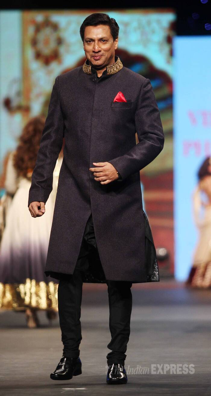 Director Madhur Bhandarkar looked suave as he showcased a sherwani. (Photo:Varinder Chawla)