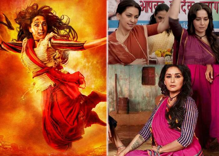 In 'Gulaab Gang', Madhuri Dixit starred along with her 90s rival Jushi Chawla, who was cast in a negative role. While madhuri portrayed the leader of a vigilante group loosely based on Sampat Lal, Juhi stole the show as the corrupt politician.