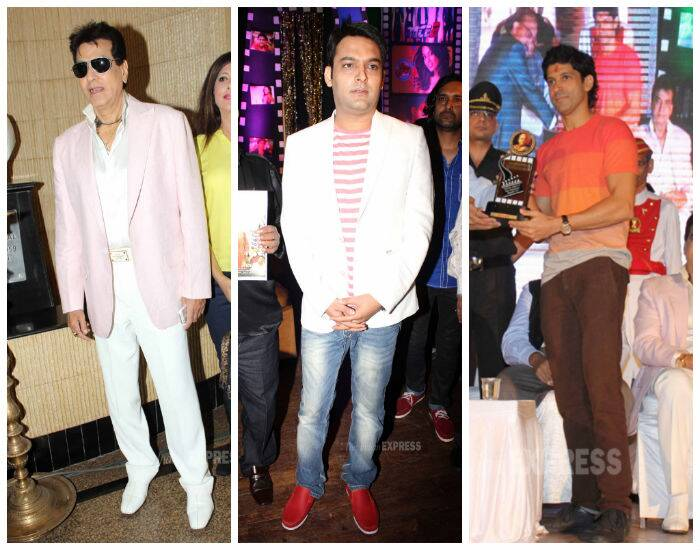 Jeetendra, Farhan, Kapil Sharma honoured