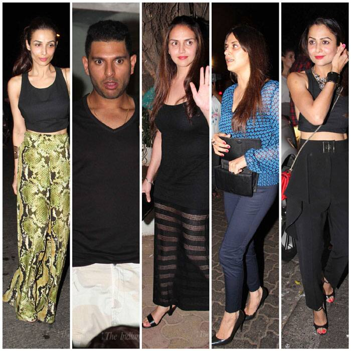 Esha-Ahana party with hubbies, Malaika-Amrita out with cricketers Yuvraj, Zaheer