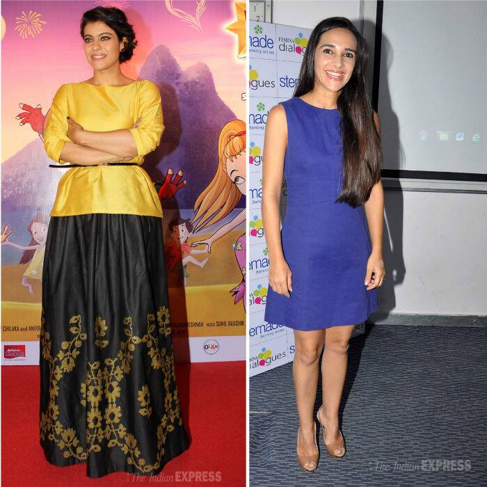 Bollywood actresses Kajol and Tara Sharma attended separate events on Friday (May 9) the occasion of Mother's Day weekend in the city.