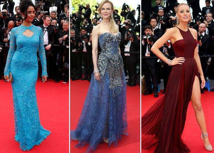 The 67th Cannes Film Festival kick started on May 14 in Cannes, with a grand opening ceremony and the screening of the film, 'Grace of Monaco'. Indian actress Mallika Sherawat joined Hollywood beauties Nicole Kidman, Zoe Saldana and Blake Lively in displaying their gorgeous gowns on the red carpet.  (AP/Reuters)