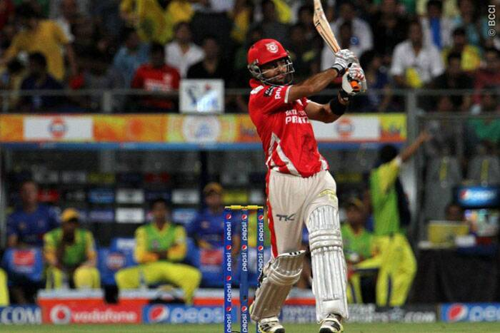 Kings XI Punjab opener Manan Vohra shared a  blistering opening partnership with Virender Sehwag. Together, they added 110 runs for the first wicket. Manan was later dismissed by Ishwar Pandey for 34. (Source: IPL/BCCI)