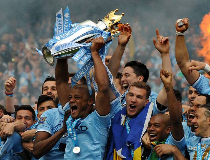 In the end, it was Manchester City who kept calm and clinched the title in fine fashion (AP)