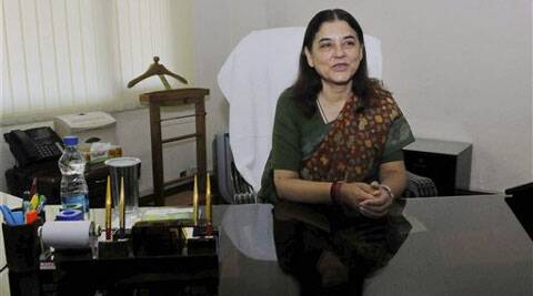 Maneka Gandhi assumed charge of the Women and Child Development Ministry in New Delhi on Wednesday. (Source: PTI)