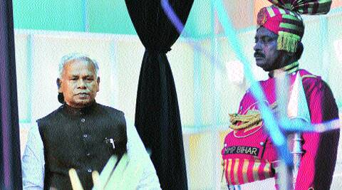Jitan Ram Manjhi at the oath-taking ceremony.Esxpress photo: Prashant Ravi
