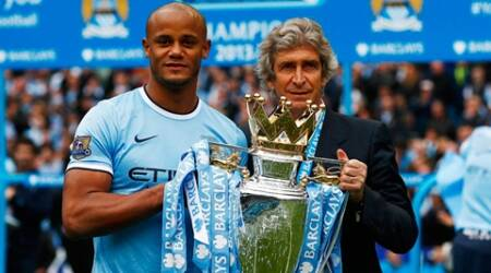 The appointment of Manuel Pellegrini proved inspired and the Chilean has now joined a select band of managers who have won the title at their first attempt. (Reuters)