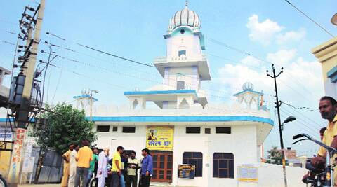 Gurdwara Ravidas Sahib, as per MC, now stands on encroached land  at Barewala Awana in Ludhiana. ( Source: Express photo by Gurmeet Singh )