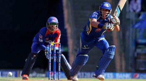 Michael Hussey cracked 56 off 33 balls and also put on 87 for the first wicket with Lendl Simmons (Source: BCCI/IPL)