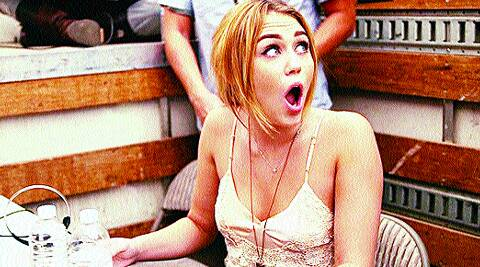 Miley Cyrus in a still from the American tele series, Punk'd, which is being made into Jhand Hogi Sabki for MTV.