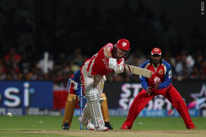 Kings XI Punjab batsman David Miller was at his best against Royal Challengers Bangalore on Friday. The South African top-scored for Kings XI Punjab with 66 off just 29 balls. (Photo: IPL/BCCI)