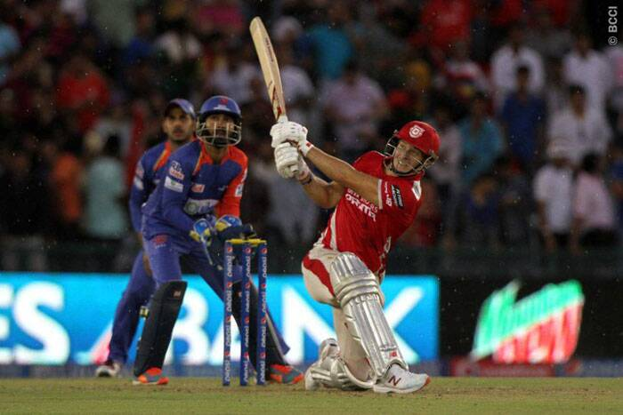 With a light drizzle arriving when Punjab needing just four, David Miller smashed Imran Tahir for a six to seal the win for Punjab in the 14th over. Miller scored a 34-ball 47 in the chase. (Source: BCCI/IPL)
