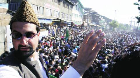 Mirwaiz Umar Farooq addresses a rally. Shuaib Masoodi/file
