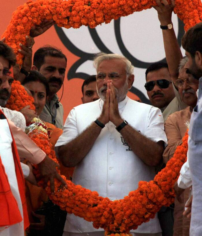 """I have not come here for revenge. I have come here for bringing about a change in this constituency which has been neglected by the Gandhi family despite representing it for 40 years. You just invoke family relations with the people here but do nothing for its development,"" the BJP's Prime Ministerial candidate said. (PTI)"