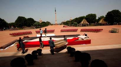 Preparation in full swing for Narendra Modi's swearing-in ceremony