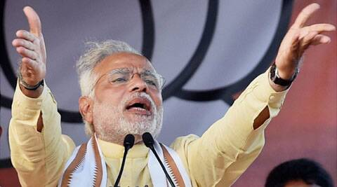 Politics isn't conducted on the basis of what is said in the course of election campaigns, Modi said