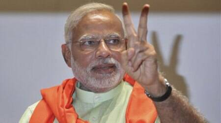Narendra Modi became the second most-liked politician on Facebook, behind only President Obama.