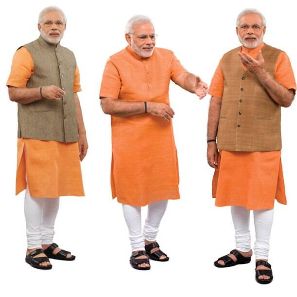 BJP gears up for 'PM', Narendra Modi poses for office