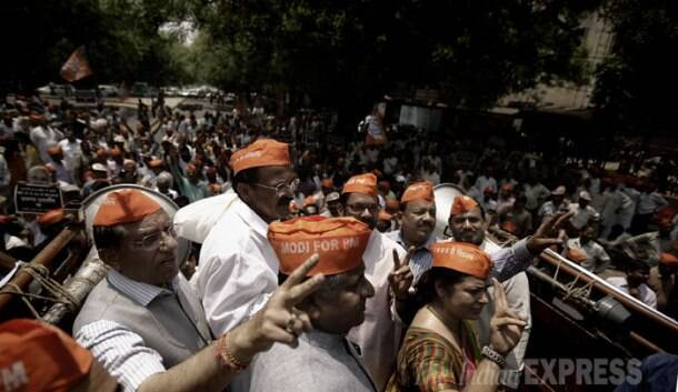 BJP supporters protest over EC move against Modi's Varanasi rally