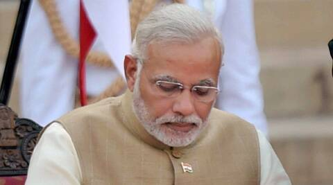 Prime Minister Narendra Modi paid his tribute to Gopinath Munde. (Source: PTI)