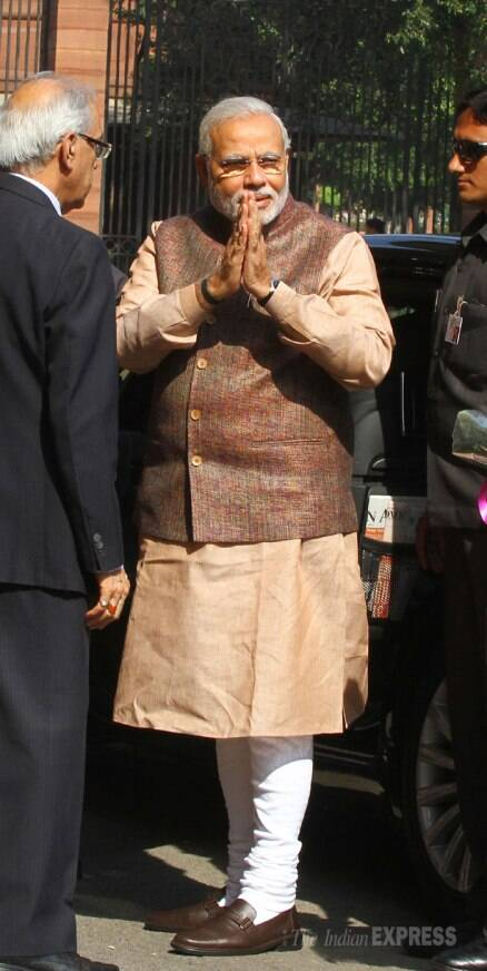 Indian Prime Minister Narendra Modi takes charge