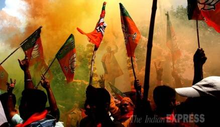 Celebrations break out as BJP registers historic win