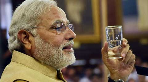 Narendra Modi will put in his papers as Chief Minister of Gujarat today. (Source: PTI)