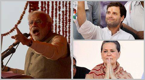 "Attacking Sonia Gandhi and Rahul Gandhi, Modi said, ""you have committed sins."