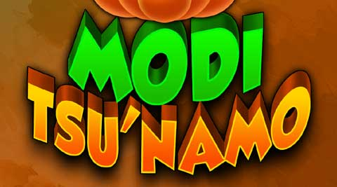 Modi Tsu'namo celebrates spirit of elections in a fun way.