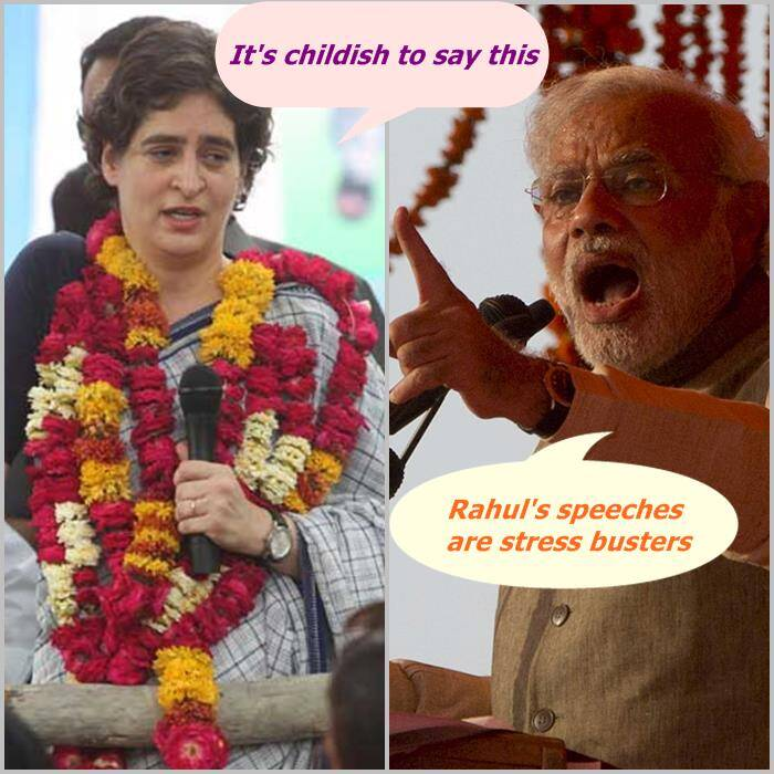 Priyanka Gandhi vs Narendra Modi: Attacks and counter attacks