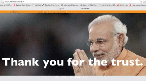 Narendra Modi's official website got a makeover. (Photo courtesy: Modi's website)