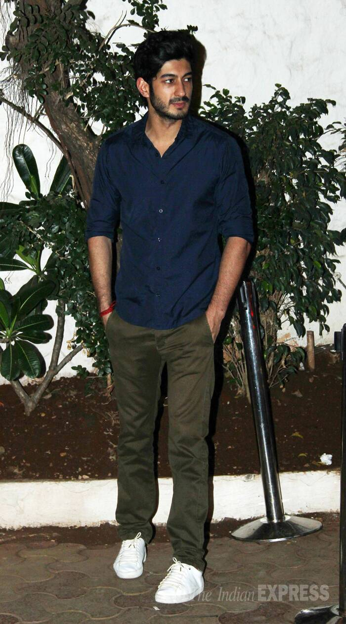 The actor, who will be making his Bollywood debut in 'Fugly', sported a dark blue shirt, pants and sneakers. (Photo: Varinder Chawla)