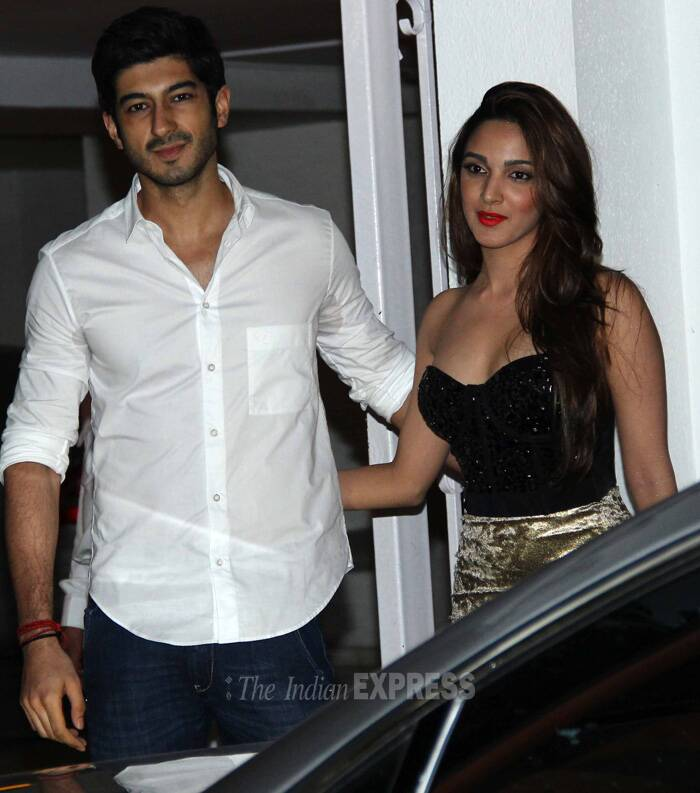 Sonam's cousin Mohit Marwah, who is all set to make his debut in Akshay Kumar's 'Fugly', attended the party with his co-star Kiara Advani. (Source: Varinder Chawla)