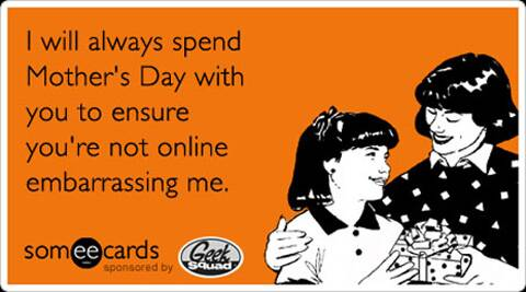 Mother's day tweets.