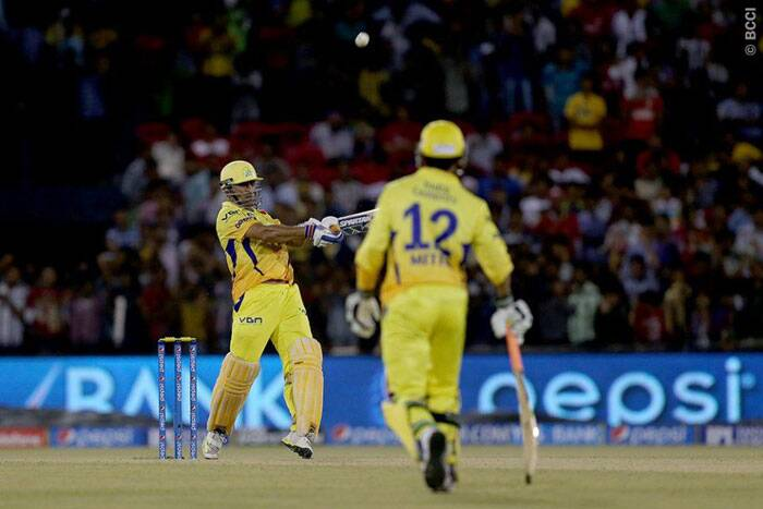 When MS Dhoni was caught by Bailey in the 19th over, it was already over for Chennai. They finished with 187/6 falling short of the target by 44 runs. The win gave Punjab the top spot in the points table while Chennai slipped to the second spot. (Photo: BCCI/IPL)