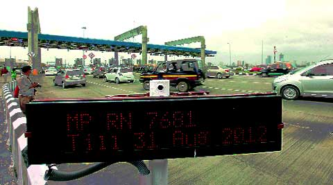 The toll plaza at the Bandra-Worli sea link
