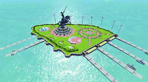 The original concept plan of Shivaji Memorial.